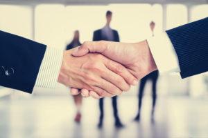 Handshake of businessmen
